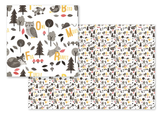 woodland animals alphabet