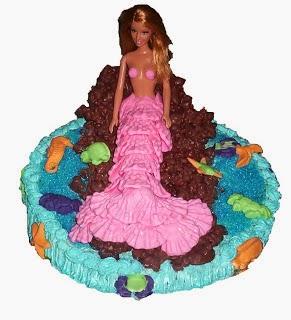 Bolo decorado Barbie Sereia