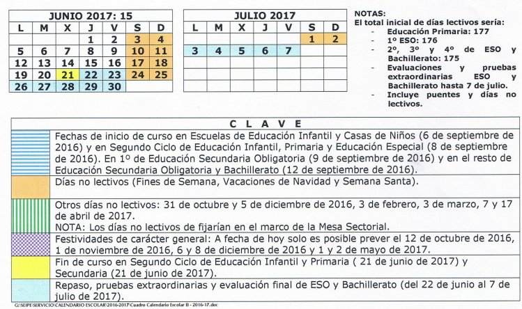 Calendario escolar madrid 2017 2018 y convocatoria for Examen para plazas docentes 2017