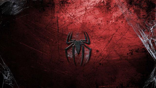 Logo Spider-Man Toile Comics - Fond d'écran en Ultra HD 4K