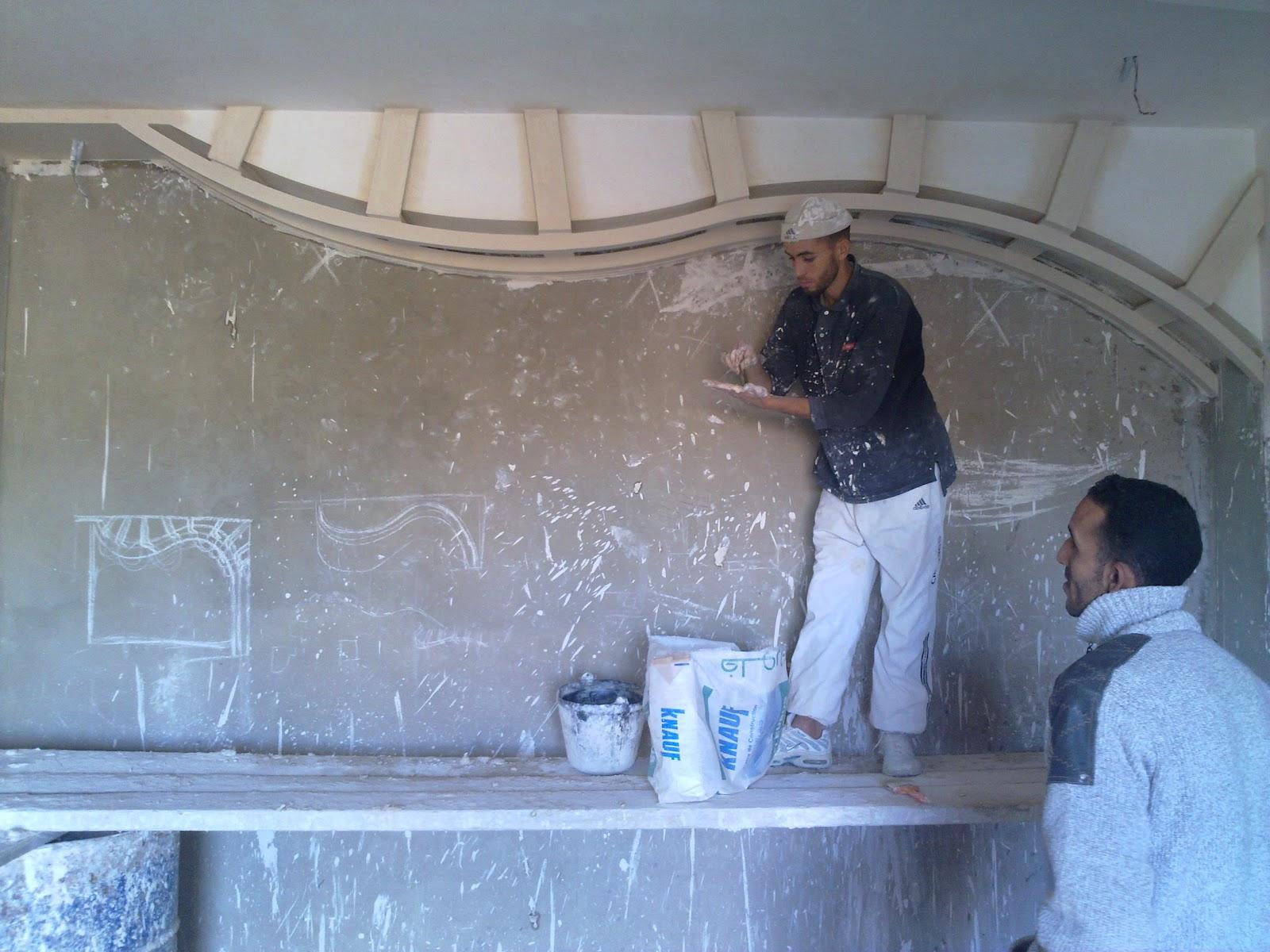 Platrer un mur ms timicha d coration marocaine for Platrer un mur interieur