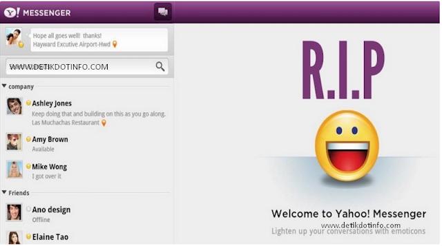 Yahoo Messenger Akhirnya Ditutup,Setelah 18 Tahun Beroprasi