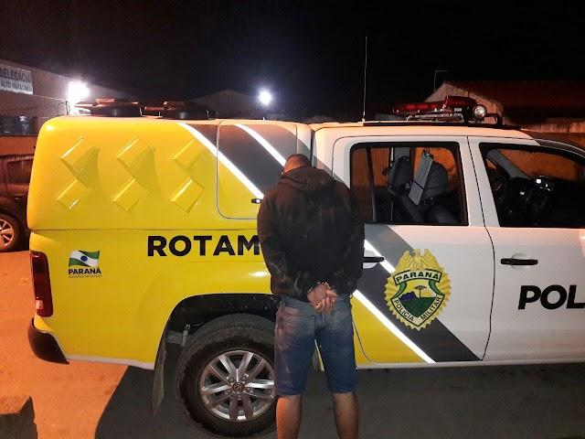 Policia Militar recupera veículo roubado e prende ladrão