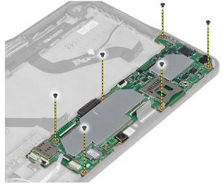 Removing the system board Dell Latitude 10 – ST2e