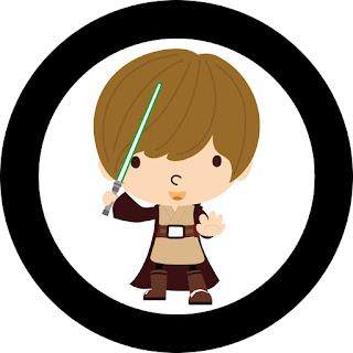 Toppers o Etiquetas de Star Wars Bebés para imprimir gratis.