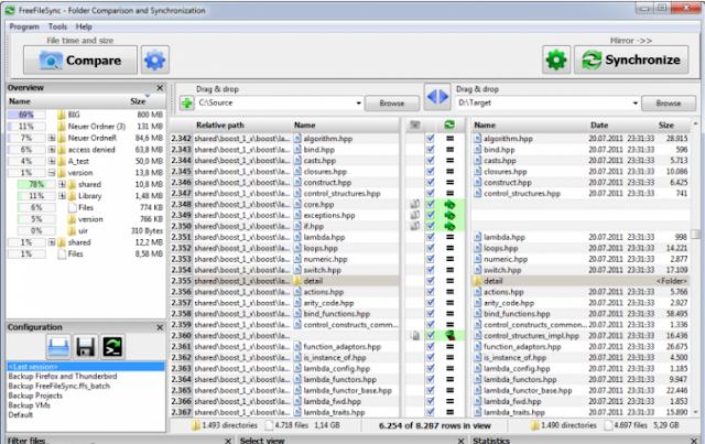 تحميل برنامج مزامنة الملفات للكمبيوتر FreeFileSync for Windows 9.5