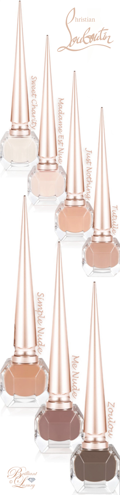 Brilliant Luxury ♦ Christian Louboutin nail lacquer nude