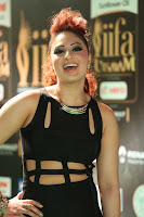Nikesha Patel in Beautiful Figure Hugging Black Dress  at IIFA Utsavam Awards 2017  Day 2 at  18.JPG