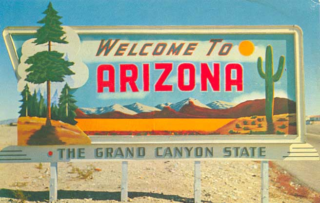 Image result for welcome to arizona postcard