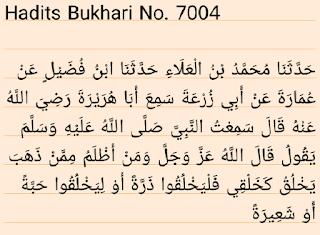 Hadits Shahih Bukhari 7004
