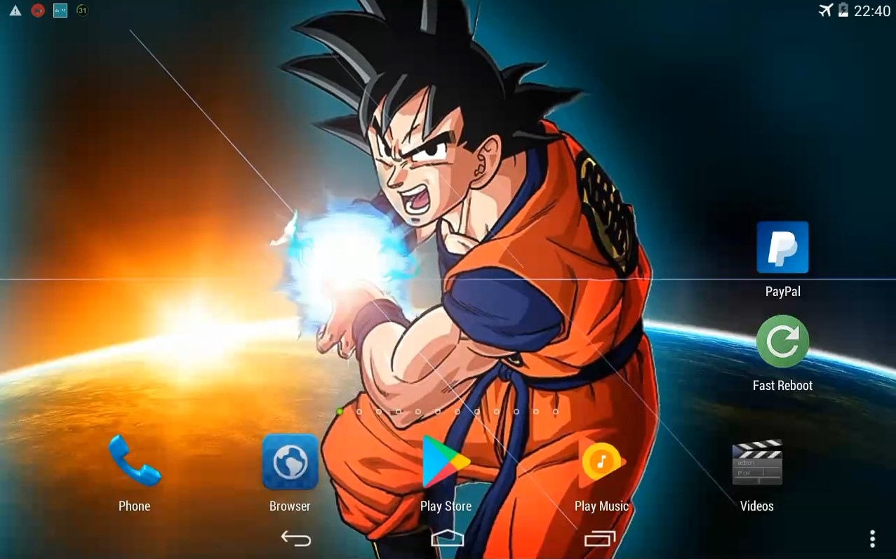 goku power mod live wallpaper for android and ios free download
