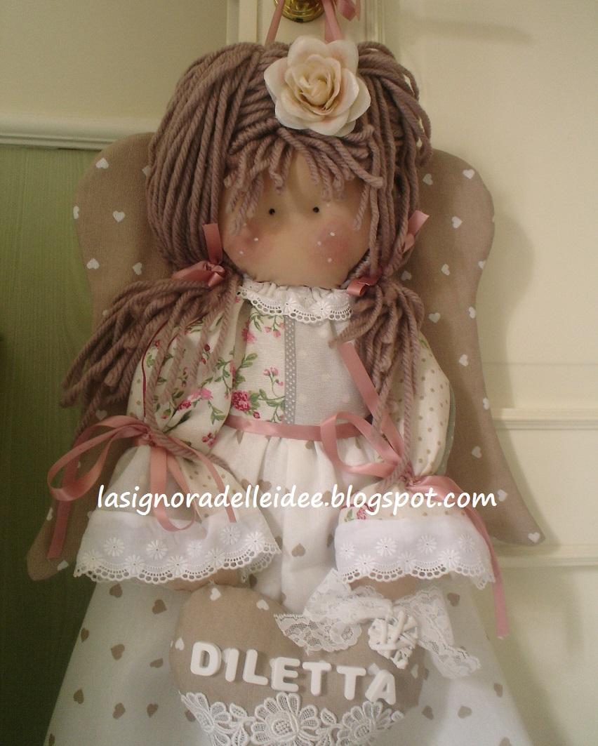 Amato La Signora delle Idee: Bambola - angelo porta pigiama o porta  ND94