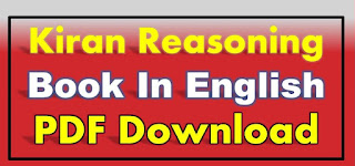 Kiran Reasoning Book PDF in English Reasoning Chapter wise Solved papers