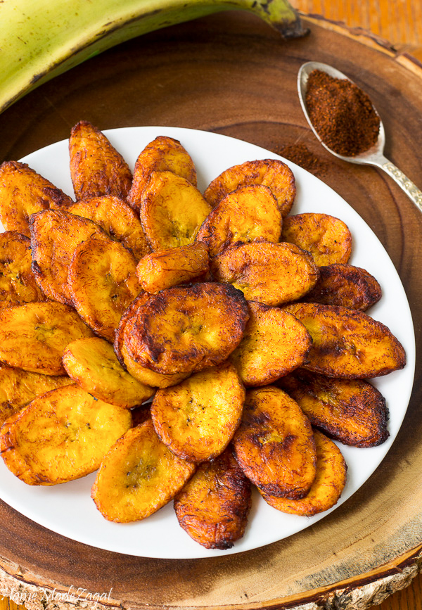 Sweet and Spicy Fried Plantains