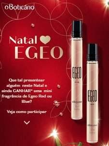 Cadastrar Promoção O Boticário Natal 2018 Compre Ganhe Egeo Red ou Blue