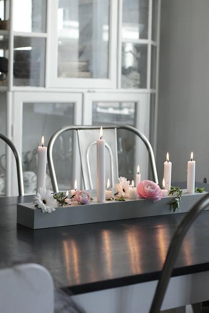 annelies design, webbutik, webshop, nätbutik, inredning, kök, köket, ljusstake, duo 60, stumpastake, stumpastakar, ljusstakar, blommor, dekorera, lång ljusstake