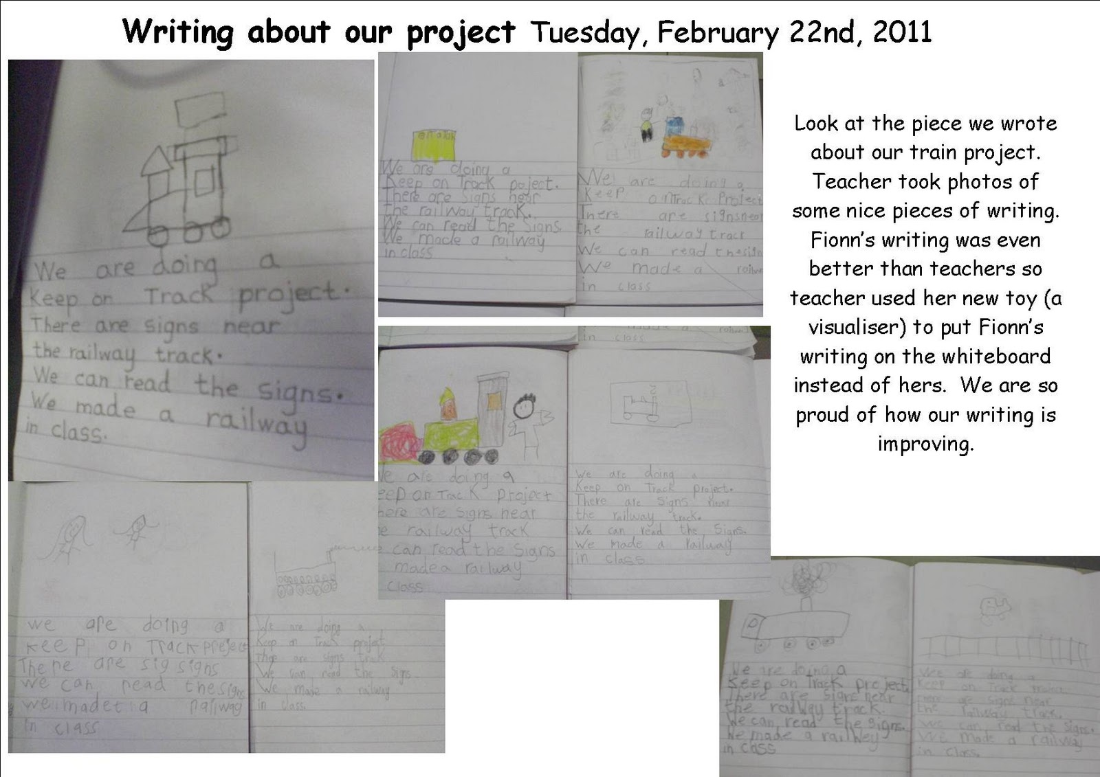 Literacy Site Writing About Our Train Project Senior Infants