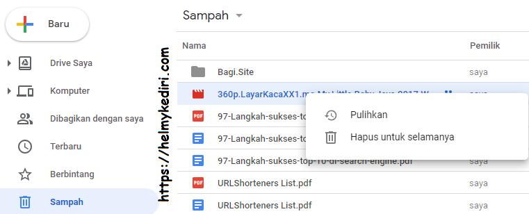 Cara Mengembalikan File Yang Terhapus Digoogledrive Blog Orang It
