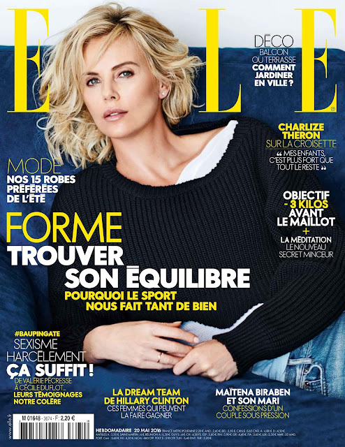 Actress, Model, @ Charlize Theron - Elle France, May 2016