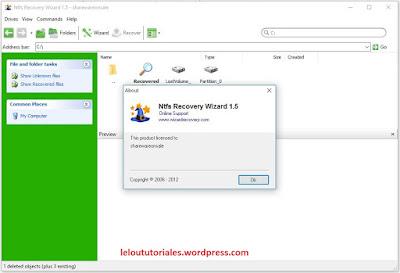 NTFS Recovery Wizard v1.5 + Serial + Portable [Full] [MEGA]
