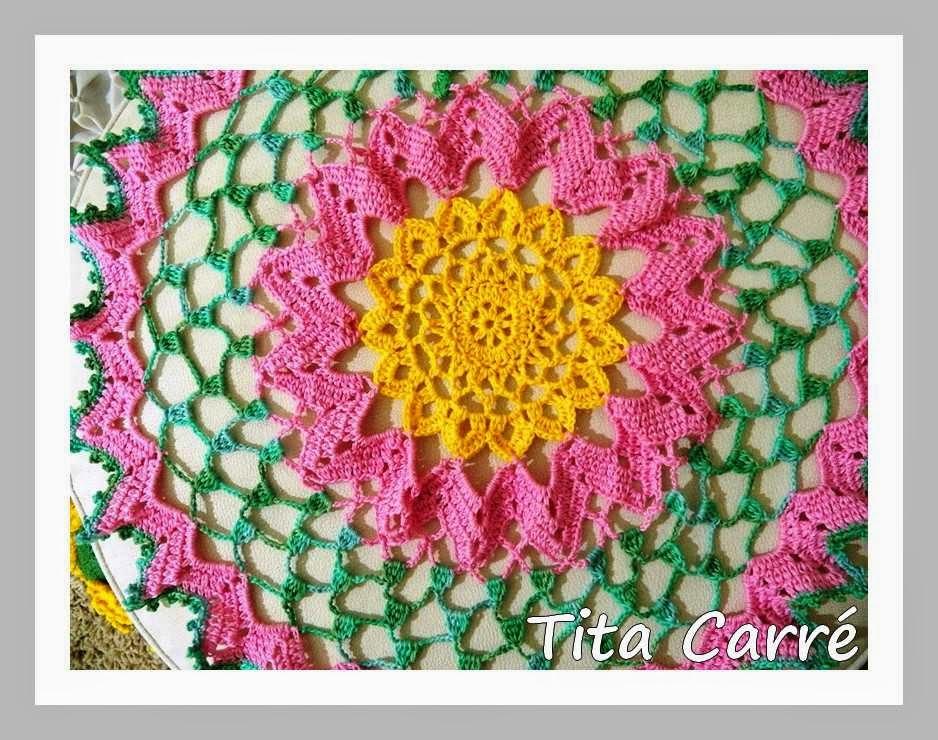 Toalha Inspiração de Flores em crochet