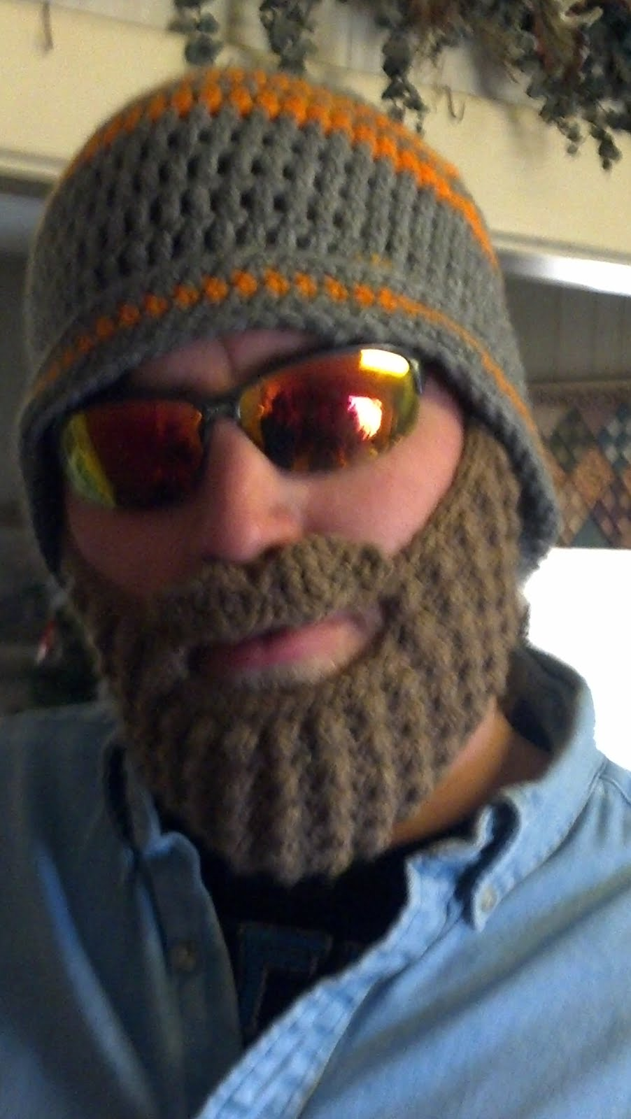 25bee418ea0bd Have you seen those crazy crocheted beard hats that are becoming popular on  the internets  My brother-in-law asked if I could make him one this  Christmas.