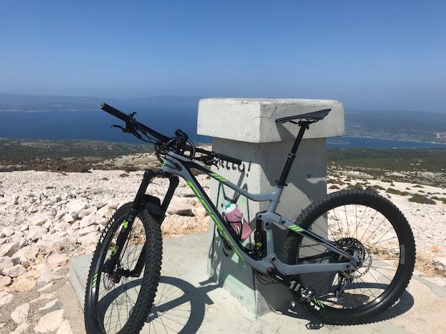 scott mountainbike kroatien krk höchster berg obzova