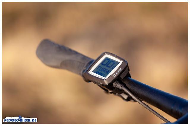 Das Bosch Purion ist das ideale e-Bike Display für sportliche Fahrten auf dem Corratec X Vert.