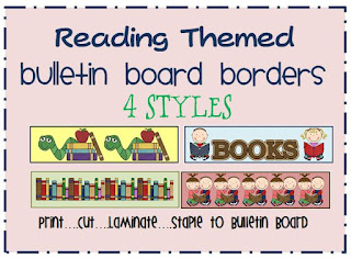 reading themed bulletin board border