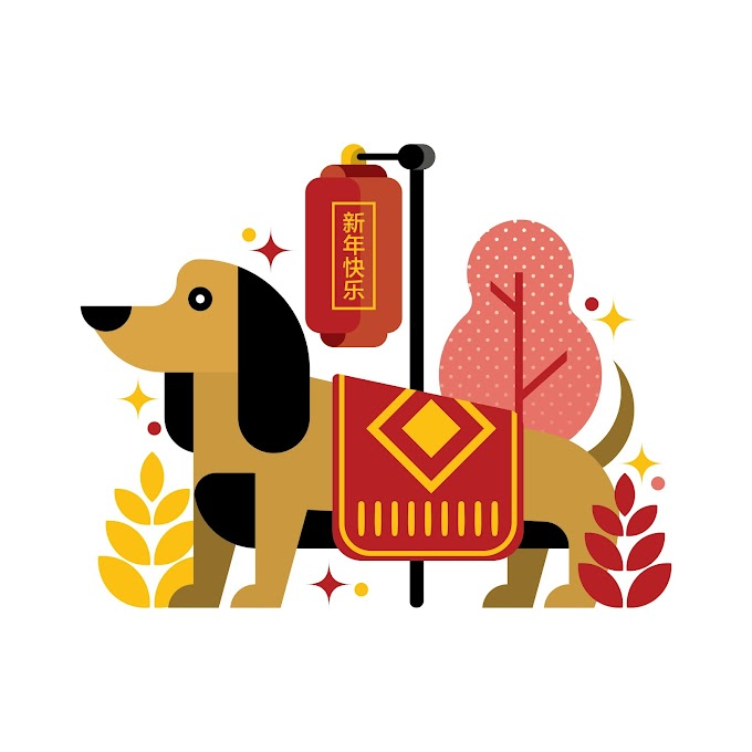 Year of the dog happy chinese new year 2018 free vector