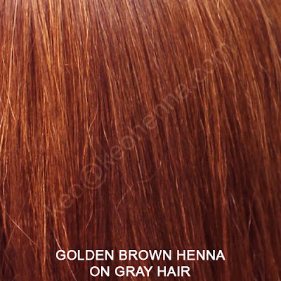 Golden Brown Henna Hair Color On Gray Hair
