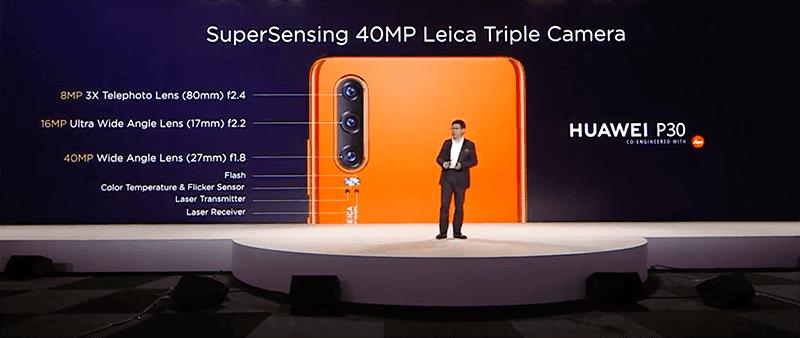 Huawei P30 camera specs