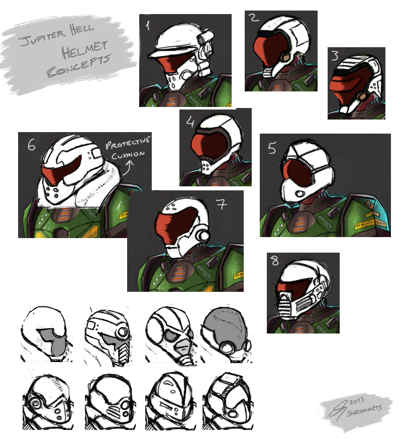 Jupiter Hell - helmet roughs