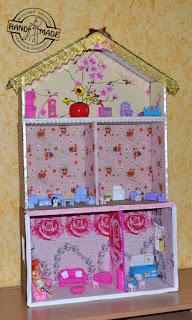 кукольный домик из картонных коробок