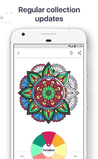 Features Of Coloring Book For Me Mandala