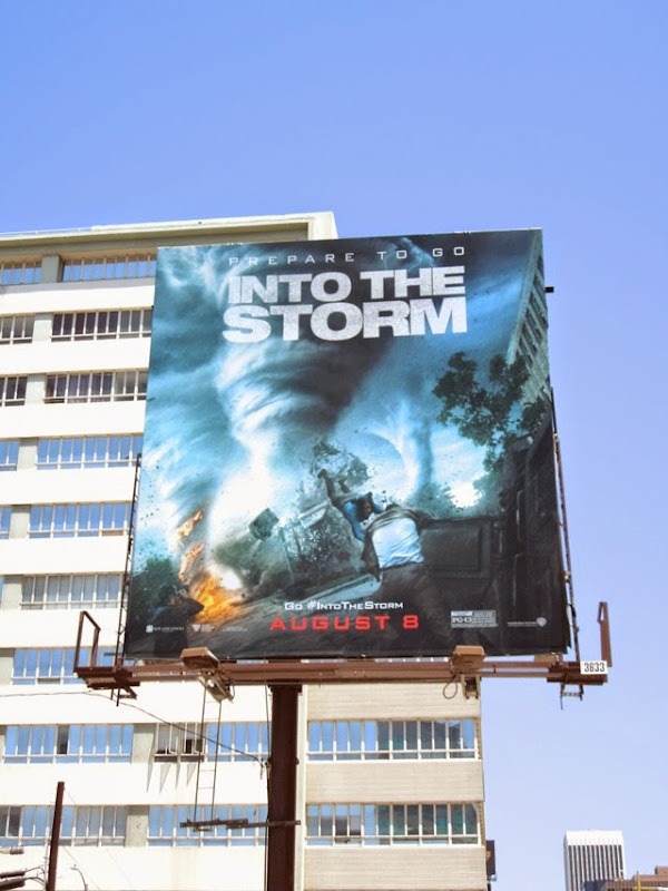Into the Storm movie billboard
