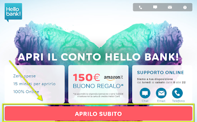 Hello Bank ti regala 400€ in buoni amazon