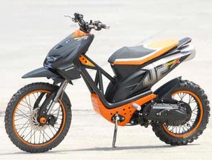 modifiksi motor honda beat orange