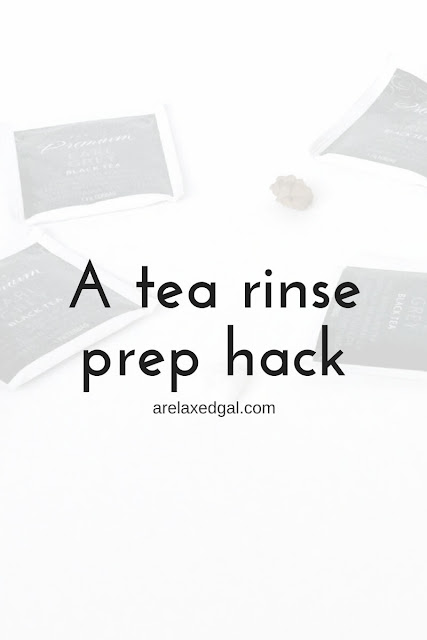 Check out this easy way to prepare tea for tea rinses that can be done on natural or relaxed hair. | arelaxedgal.com