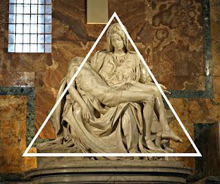 Pieta forma piramidal desenho divino - Vaticano