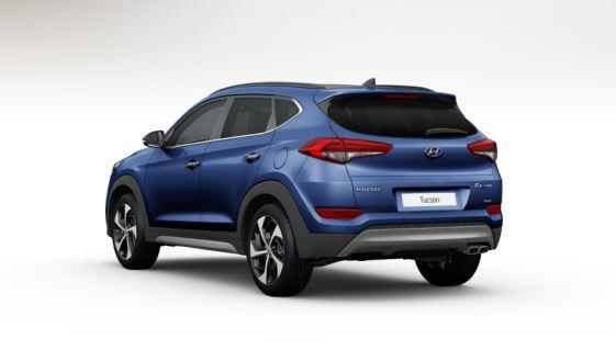 colori Nuova Hyundai Tucson 2016 Blu Scuro - Ash Blue retro dietro posteriore