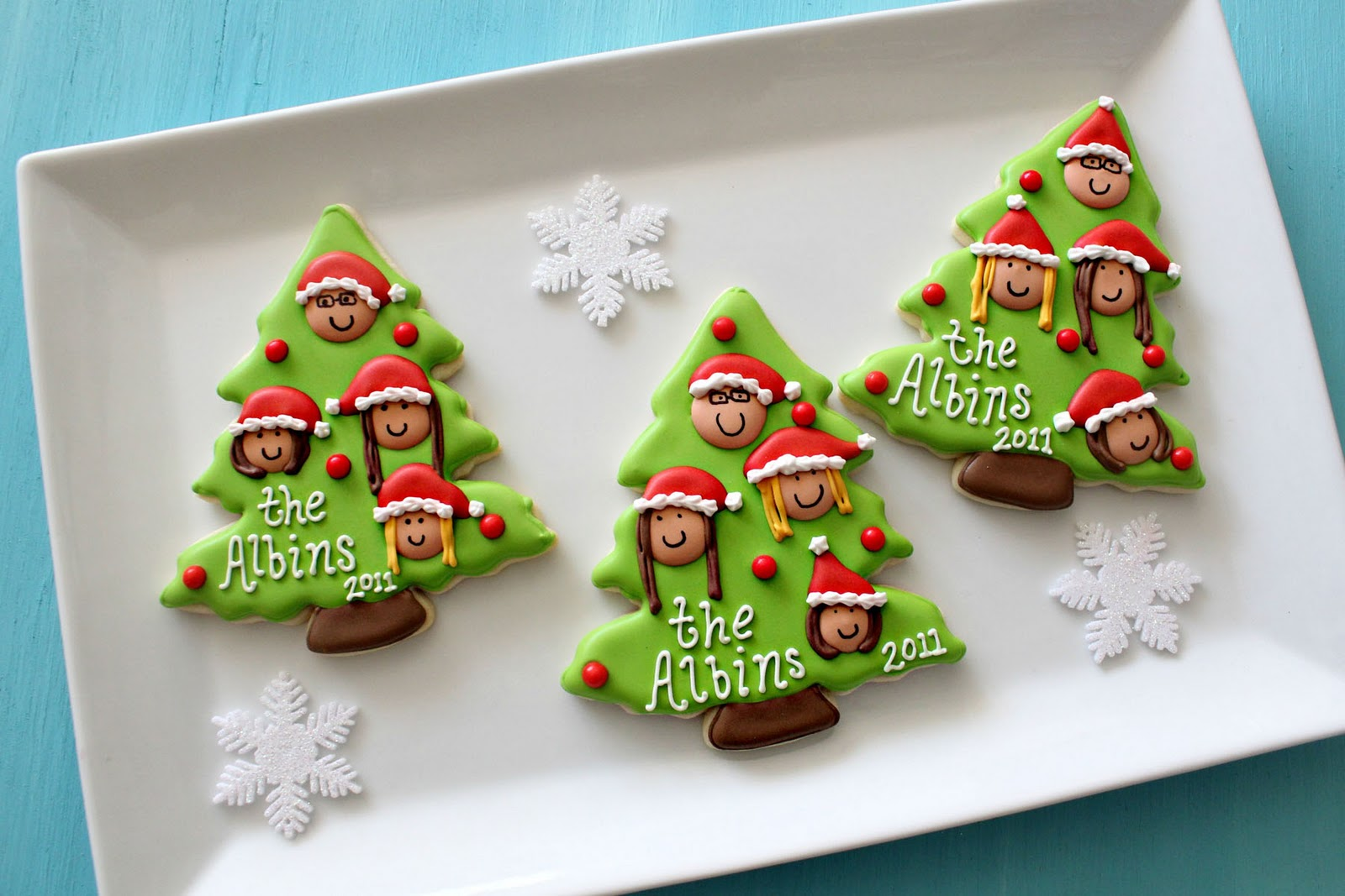 Christmas Family Tree Cookies {with Printable Toppers