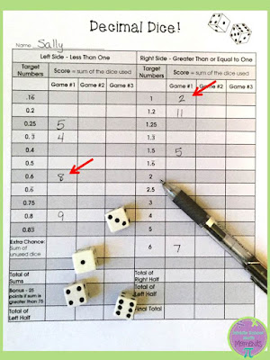 Check out this decimal dice game to help students practice converting fractions to decimals!