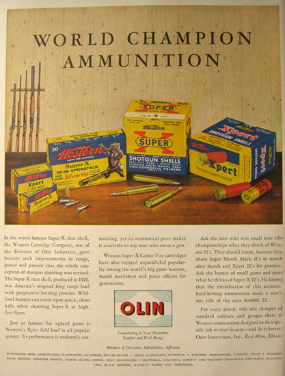 WORLD CHAMPION AMMUNITION OLIN