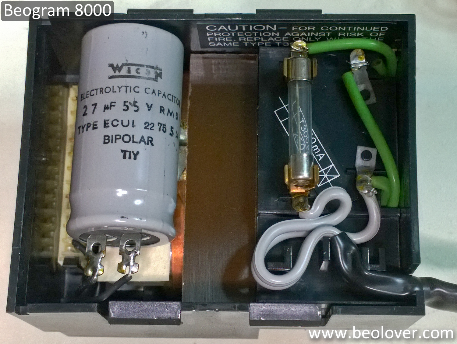 Beolover beogram 8000 completing the capacitor for Electric motor capacitor replacement