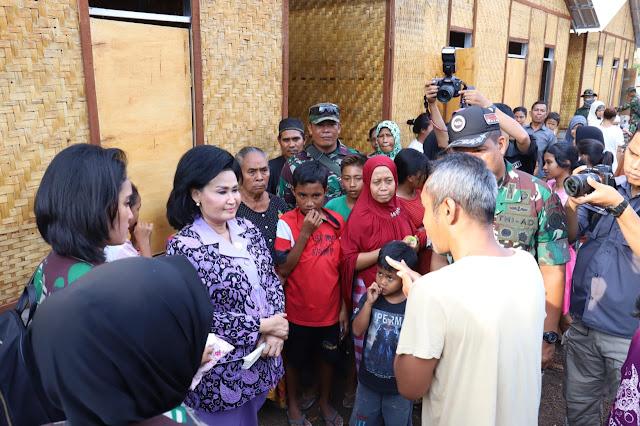 Dharma Pertiwi Berikan Bantuan Hunian Warga Korban Gempa Lombok