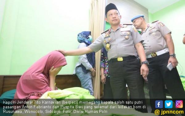 Selamat Dari Ledakan, Anak Pembuat Bom Surabaya Memberikan Pengakuan Mengejutkan Saat Dijenguk Kapolri, Ternyata Ayahnya....