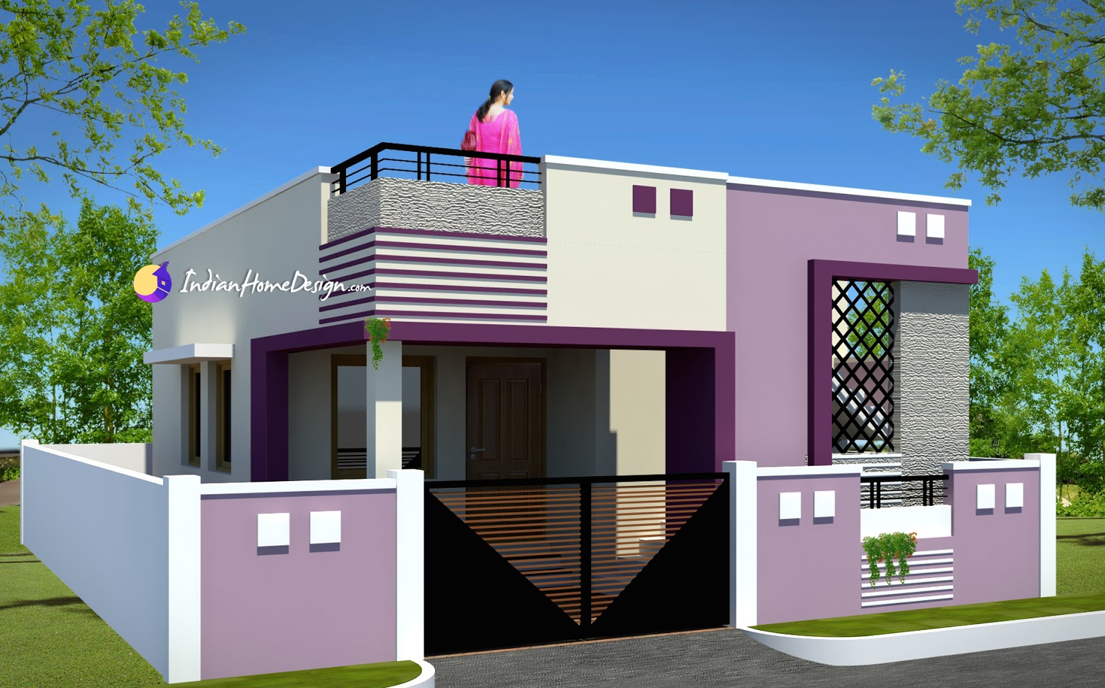 2450 sqft Modern house design for 5 cent plot by Spaceone