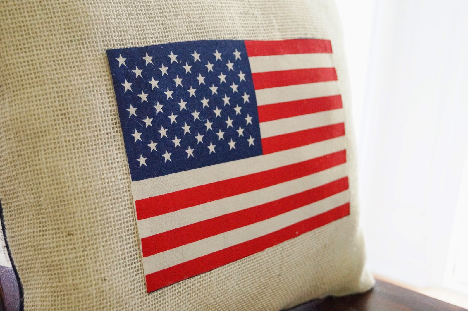 Don't Disturb This Groove: An American Flag Pillow