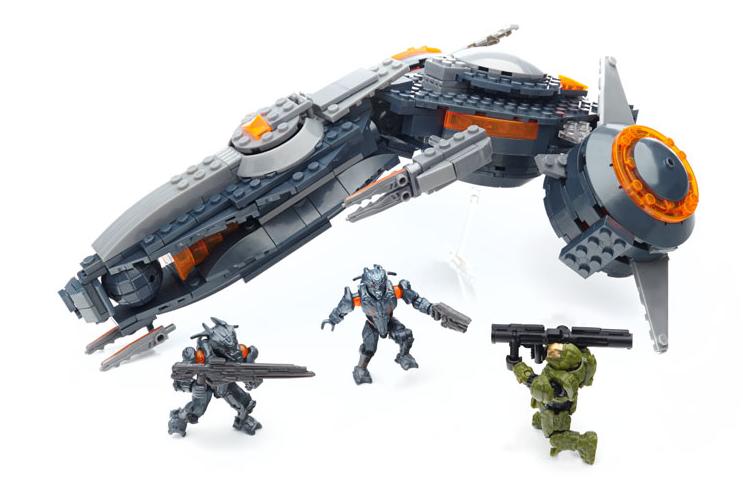 Lego Halo Toys : Review mega bloks halo phaeton gunship the test pit